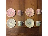 Whittard of Chelsea Espresso cups and saucers