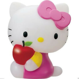 """HELLO KITTY LARGE 7"""" LED MOOD LAMPS 7 DIFFERENT LIGHT COLOURS BNIB LOOK PINK CAT"""