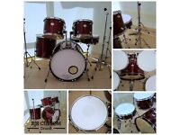 Mapex Tornado 5 Piece Rock Drum Kit with Cherry Red Wrap and Hardware