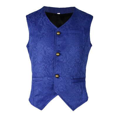 Gilet Costume Homme Sans Manches Slim Fit Multicolore Veste Business Mariage