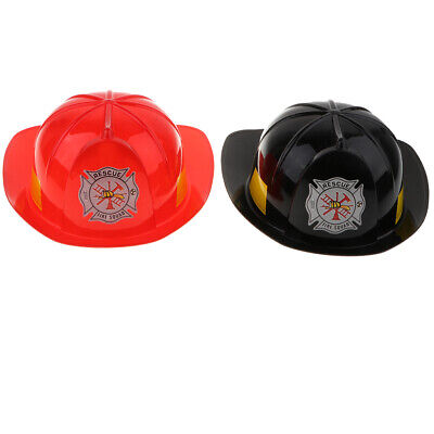 2 x Dr Up Toy Fireman Role Play Tools Plastic Safety Hat Helmet for Kid - Fireman Hats For Kids
