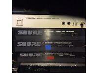 Shure radio mic receivers