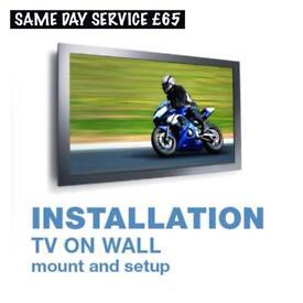Tv on wall moun bracket shelf