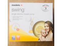 Medela Swing single electric breast pump with Calma teat and bottle