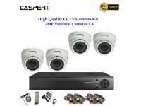 CASPERi 2.0MP Verifocal Dome Camera With 4Channel DVR Home Security System