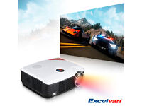NEW,2500 Lumens 1080P HD Home Theater Multimedia LED Projector