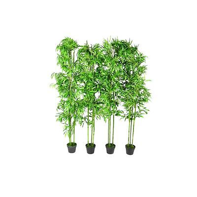 "4 pcs 75"" Bamboo Plant Artificial Arrangement Fake Silk Tree Home Decor Potted"