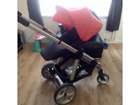 Icandy apple2pear with car seat, carrycot etc