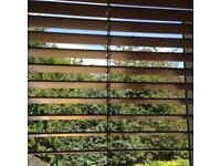 """39"""" x 45"""" 10mm slat Antique pine colour wooden Venetian blind £10"""