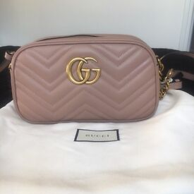 Gucci style marmont bag nude