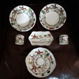 Coalport & Crown Staffordshire Hunting Scene collection