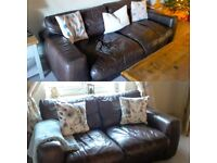 FREE - Sofas in Chocolate Brown Luxury Leather - 3 seater and 2 seater