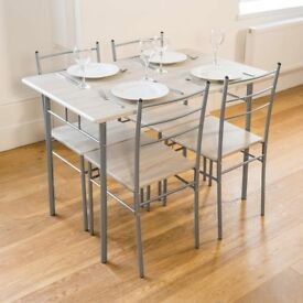 Cecilia 5 Piece Dining Table and Chairs Set - Sonoma Oak Finish