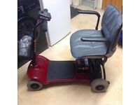 ALPHA CAR BOOT SIZED MOBILITY SCOOTER IN EXCELENT CONDITION WITH NEW BATTERIES FITTEDCARRIES 16STONE