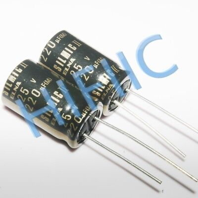 10pcs Elna For Audio Silmic Ii 25v 220uf Hi-fi Capacitor