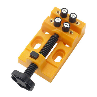 Mini Adjuestable Bench Vise Clamp Table Walnut Vice for Jewe