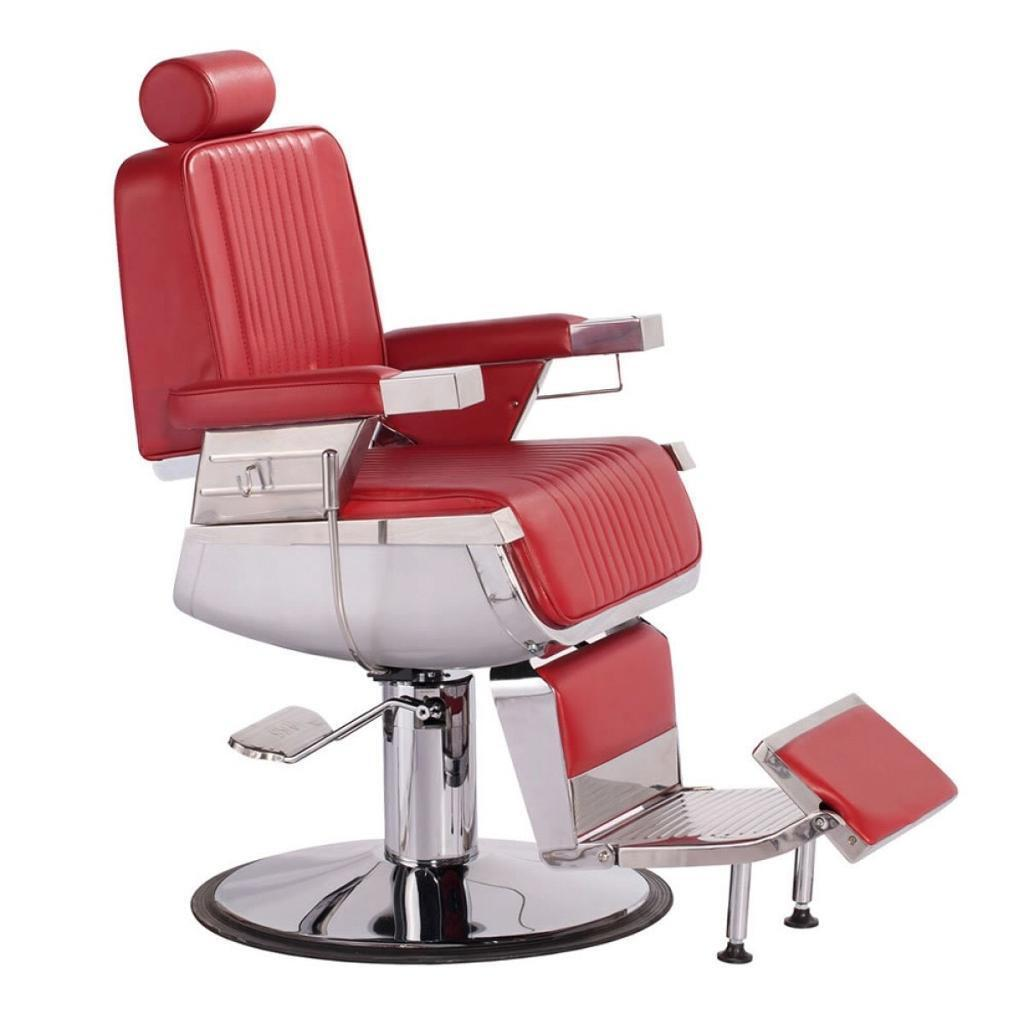 Barber Chair. Heavy Duty Salon Chairs. Red Barber Chair