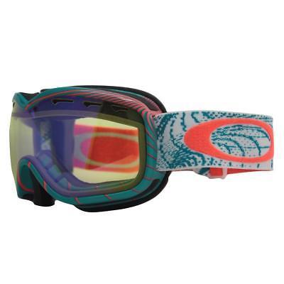 Oakley 57-048 STOCKHOLM Orbit Turquoise w/ HI Yellow Womens Snow Ski Goggles .