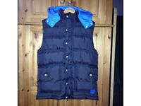 black & blue mckenzie body warmer M