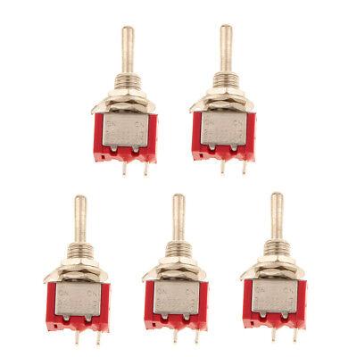 5 X Onoff Sub Miniature Small Mini Toggle Switch Spst