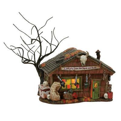 Dept 56 Halloween Village LEFTY'S CHAIN SAW REPAIR AND STUDIO #4056703 NRFB & * - Studio 56 Halloween