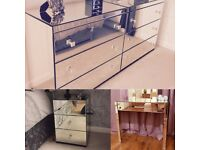 New Mirrored bedroom furniture