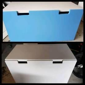 Matching storage boxes