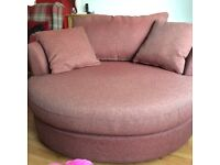 Swivel sofa chair from Next. Red tweed weave. Immaculate condition