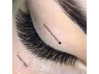 Eyelashes extension, Russian volume eyelashes, gel nails