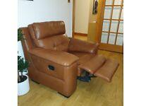 Recline leather armchair