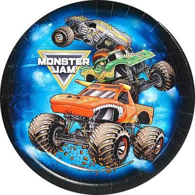 Monster Truck Jam Crunch Time Dessert Plates Birthday Party Supplies 8 Per Pkg ()