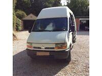 2003 Renault Master LWB Hi-Roof Van.
