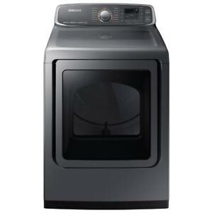 Samsung 7.4 Cu. Ft. Electric Steam Dryer (DVE52M7750P) - Platinum