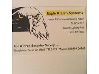 Home security.House Alarms and CCTV
