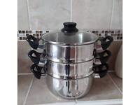 Stainless steel steamer 9 inches