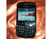 Unlocked Black BlackBerry Curve 9300 Phone that works on Three with Charger!