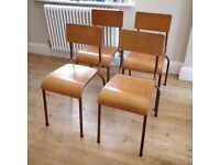 vintage stacking chairs. kitchen chairs, garden chairs, party chairs, retro chairs, dining (1207)