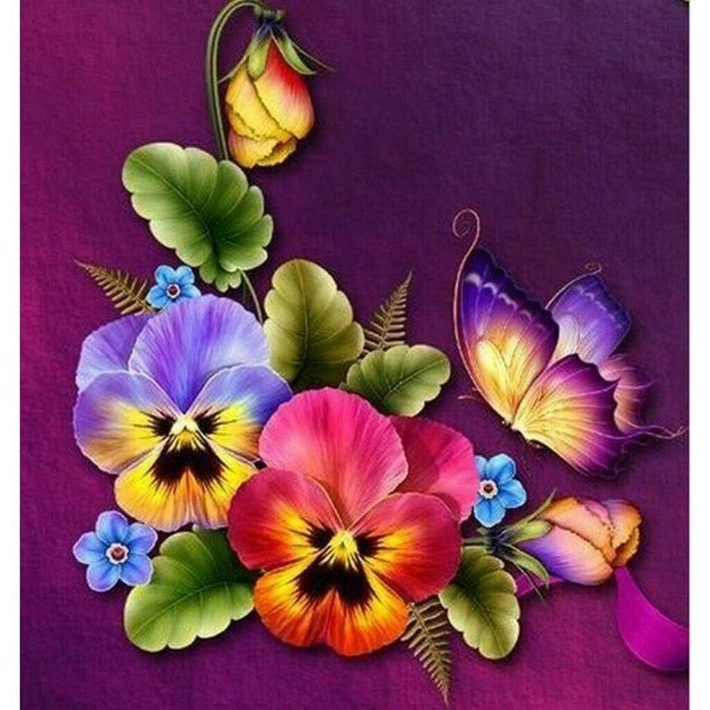Full Drill Red Flower DIY 5D Diamond Painting Kit Art Embroidery Decor Gifts