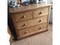 Chest of Drawers attractive light knotted wood four drawer cabinet