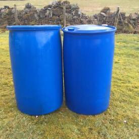 200litre Plastic Barrels