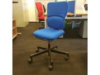 Steelcase Operators Chair in Blue Fabric