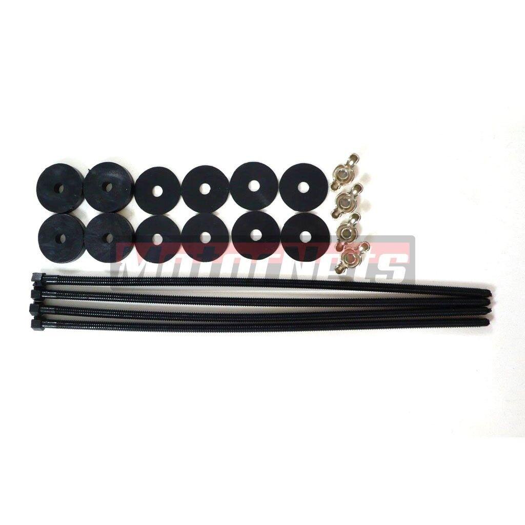 Heavy Duty Electric Fan Fan Shroud Black Plastic Push Thru Radiator Mount Kit