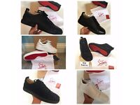 Christian Louboutin Red Bottom Sneakers Trainers Junior High Top Flat Calf Low Mens Womens