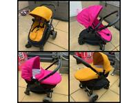 iCandy Strawberry 2 Pram/Pushchair in Amber with Orchid Flavour Pack