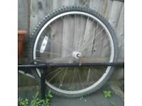 Bicycle Wheel + lock + reflector