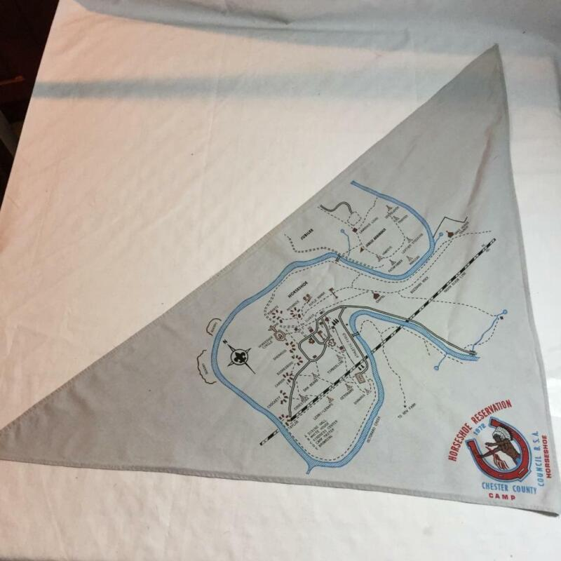 Boy Scouts of America Neckerchief Camp Horseshoe Reservation 1972 BSA