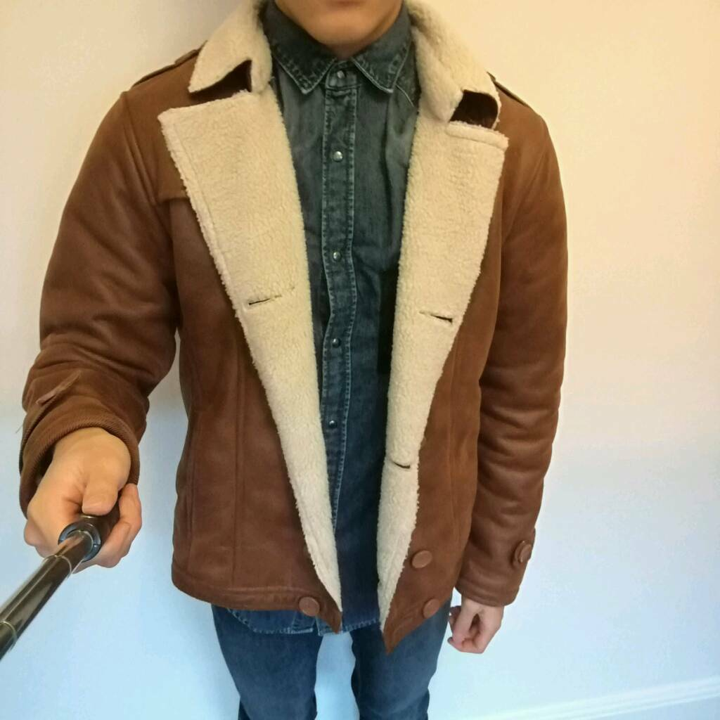 Brown Sherpa Jacket - M