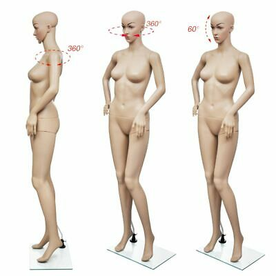 Adjustable Full Body Female Mannequin Torso Dress Form Realistic Display W Base