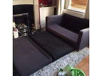 futon and footstool