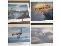 Ww2 Airplane prints with some rare signed pictures